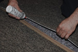 TCB Carpets' Installer Carpet Seam Preperation